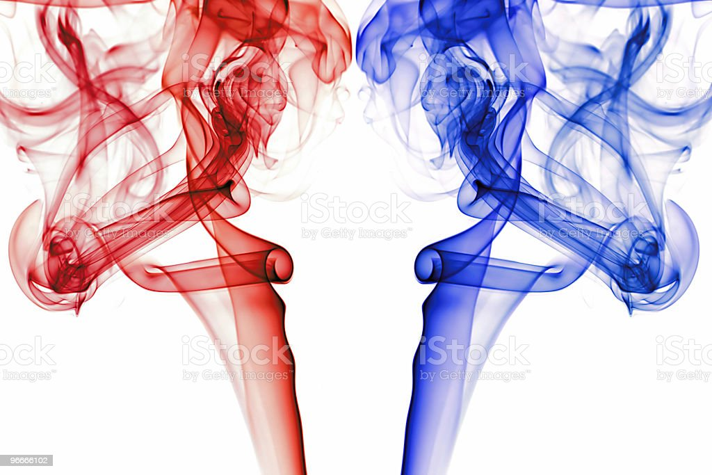 Abstract smoke red & blue royalty-free stock photo