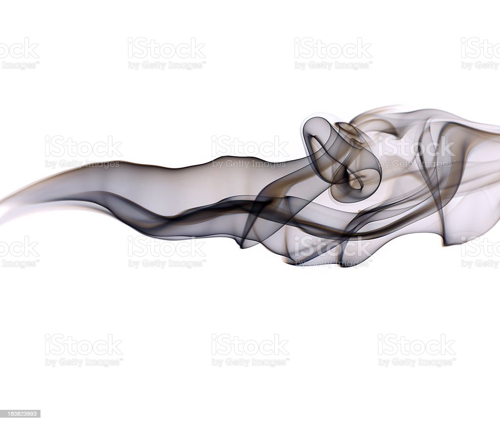 Abstract smoke segment on white stock photo