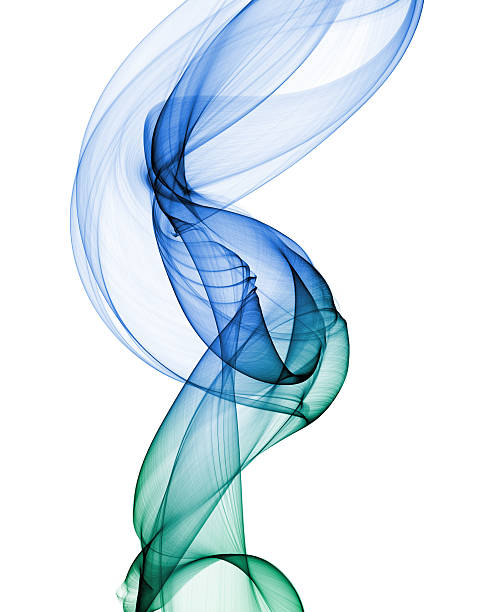 abstract smoke shape on white stock photo