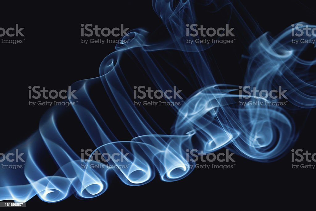 Abstract Smoke Swirl royalty-free stock photo