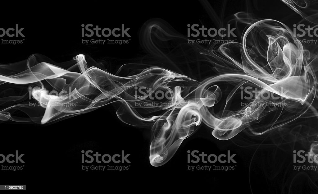 Abstract smoke wave stock photo