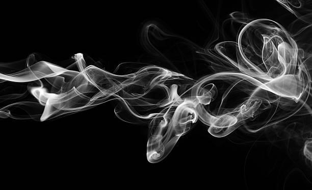 abstrato onda de fumaça - exhaust white background imagens e fotografias de stock