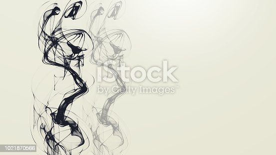 istock Abstract Smokey Wavy colorful background 1021870566