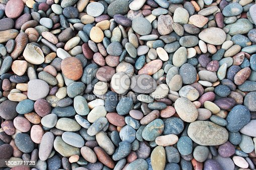Abstract smooth round pebbles texture background