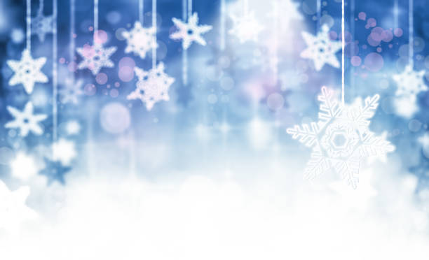 Abstract Snowing Backdrop stock photo