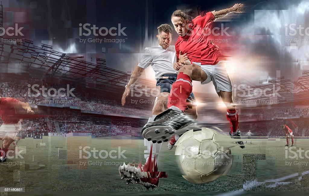 Abstract Soccer Action royalty-free stock photo