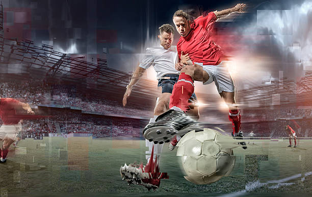 Abstract Soccer Action stock photo