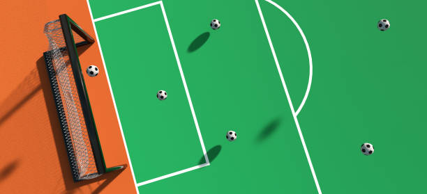 Abstract soccer sports background stock photo