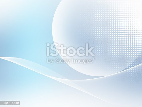 istock Abstract Soft Blue Futuristic Background With Wavy Pattern 943114318