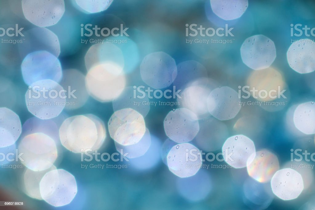 Abstract soft lens bokeh background blue aquamarine stock photo