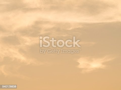 istock Abstract soft orange and blue sky in background 540126638