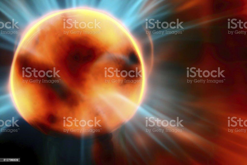 Abstract Solar Flare stock photo