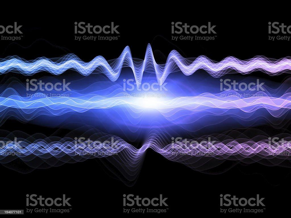 Abstract Sound Analyzer royalty-free stock photo