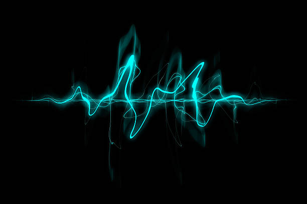 abstract sound wave - audio wave stock photos and pictures