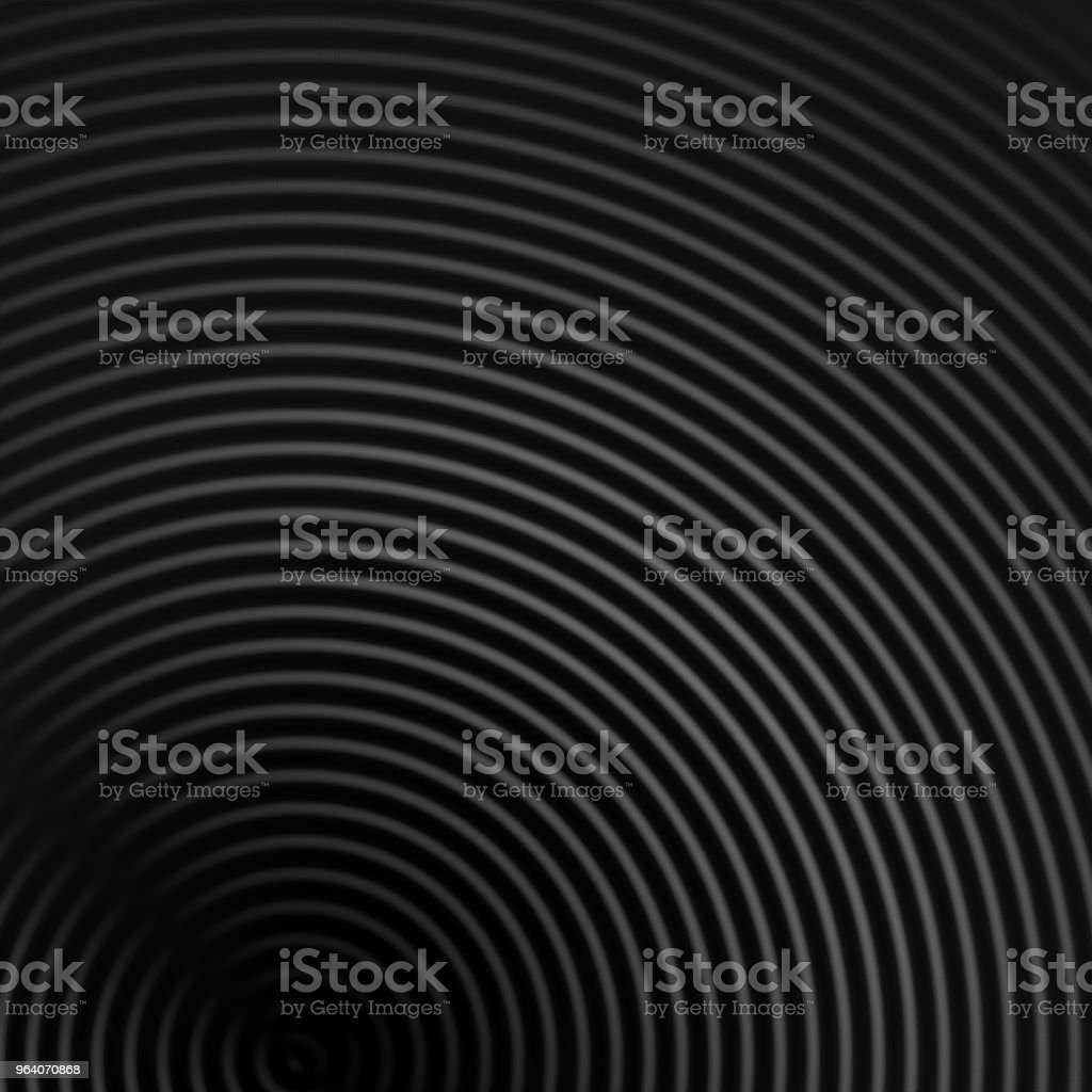 Abstract sound waves effect gray color on black background - Royalty-free Abstract Stock Photo
