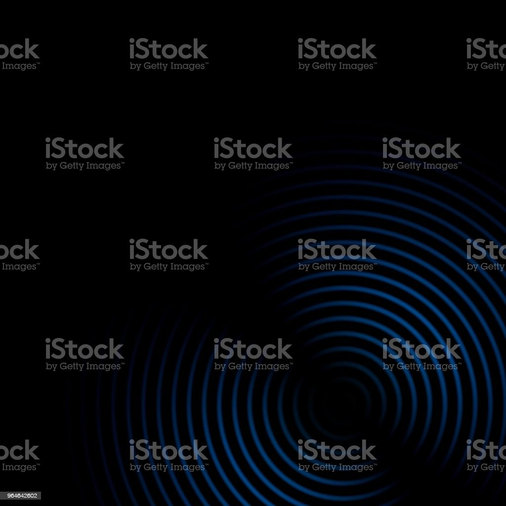 Abstract sound waves oscillating blue on black background royalty-free stock photo