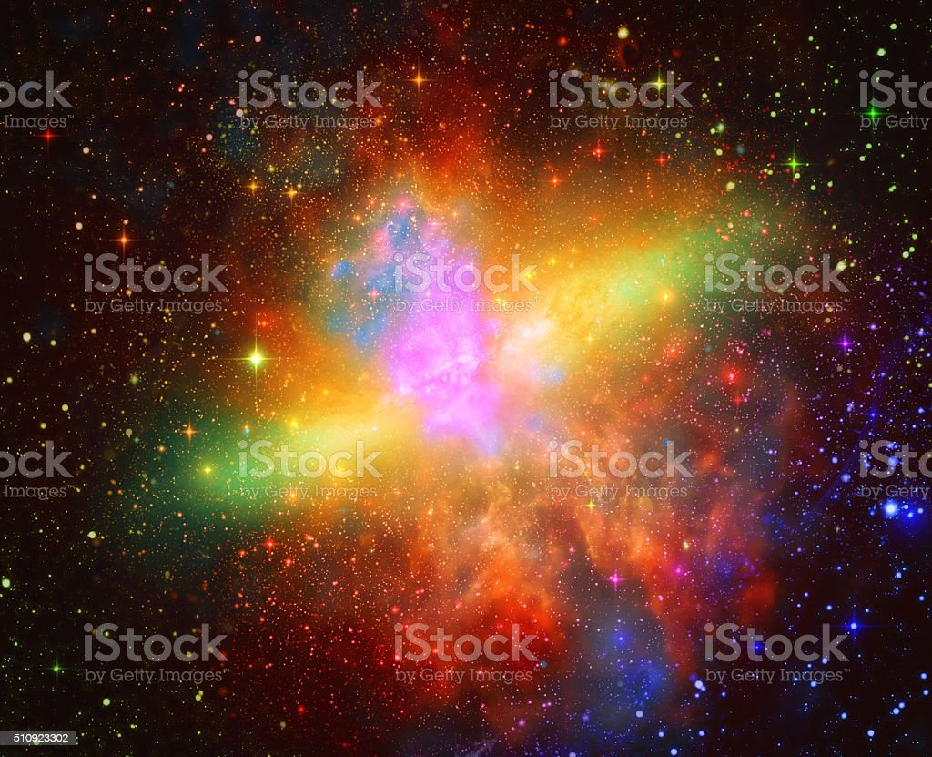 Abstract space background stock photo