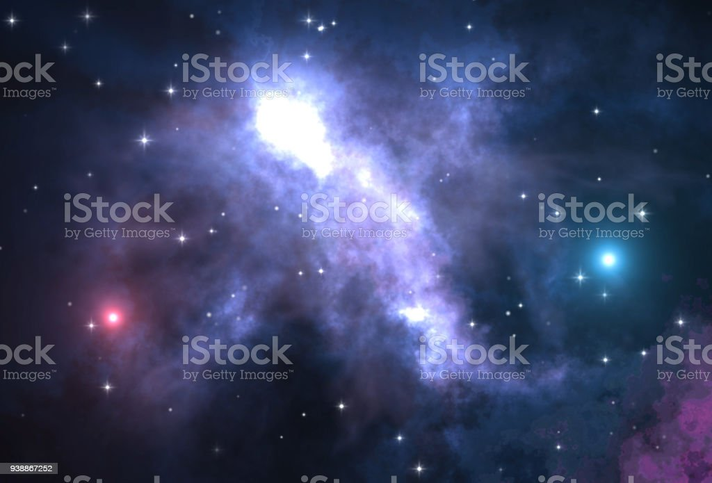 Abstract Space Background With Siny Stars stock photo