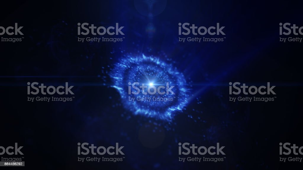 Abstract space or time travel concept background, intergalactic exploration supernova. stock photo