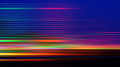 Abstract Background Speed Neon Colorful Dark Spectrum Igniting Motion Pattern Light Trail Long Exposure Blurred Bright Night Texture for presentation, flyer, card, poster, brochure, banner