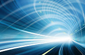 istock Abstract Speed motion in blue highway tunnel 98174861