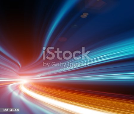 istock Abstract Speed motion in highway tunnel 155133009