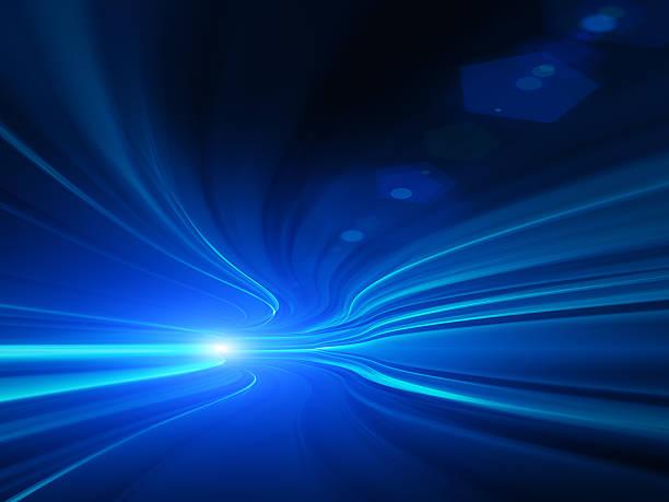 運動の抽象的な高速道路トンネル ストックフォト