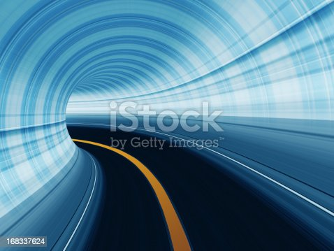 155133009 istock photo Abstract Speed motion in highway tunnel 168337624
