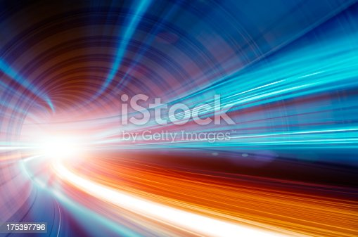 istock Abstract Speed motion in highway tunnel 175397796