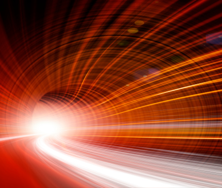 545558628 istock photo Abstract Speed motion in highway tunnel 175439469
