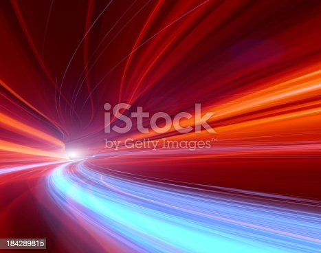 istock Abstract Speed motion in highway tunnel 184289815
