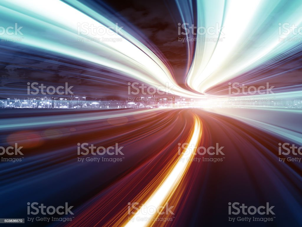 Abstrakte Geschwindigkeit Bewegung im Autobahn-tunnel – Foto