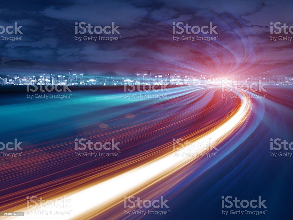 Vitesse mouvement abstrait tunnel de l'autoroute - Photo