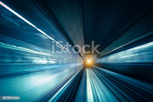 istock Abstract Speed motion in train tunnel 592654344