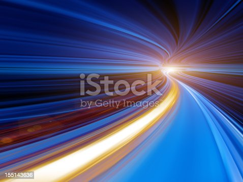 155133009 istock photo Abstract Speed motion in tunnel 155143636