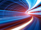 istock Abstract Speed motion in tunnel 155145924