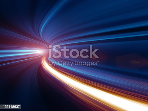 istock Abstract Speed motion in tunnel 155148637