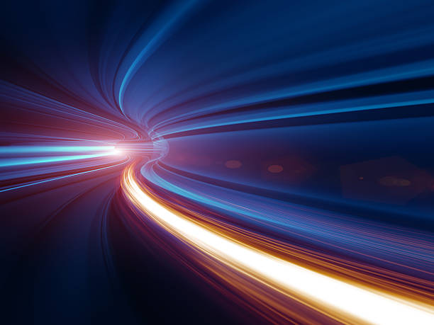 abstract speed motion in tunnel - in a row stock pictures, royalty-free photos & images