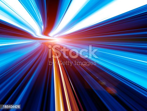 155133009 istock photo Abstract Speed motion in tunnel 185404426