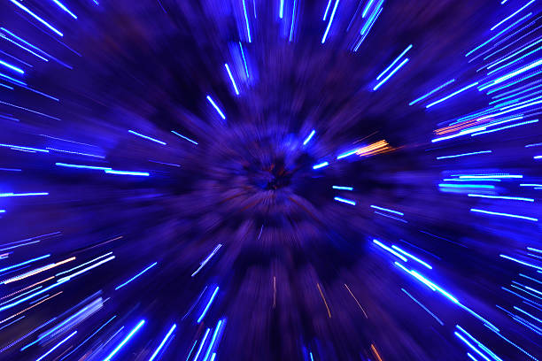 abstract speed technology background - space exploration stock photos and pictures