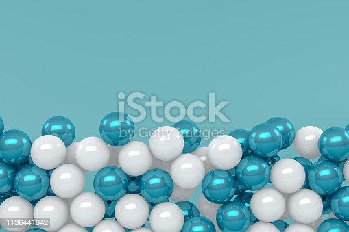istock 3D Abstract Sphere Background 1136441642