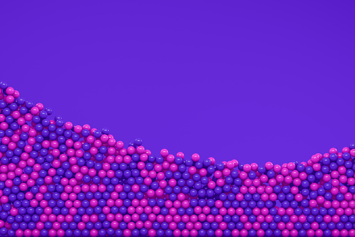 3d rendering of Abstract large group of spheres with copy space.