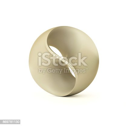 istock Abstract sphere isolated 3d illustration 869781130