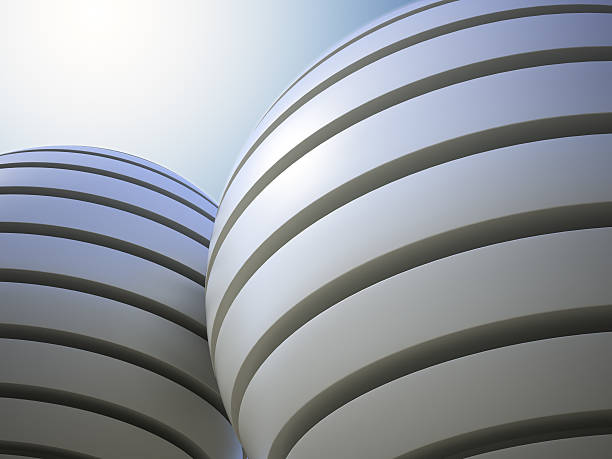 Abstract sphere structures stock photo