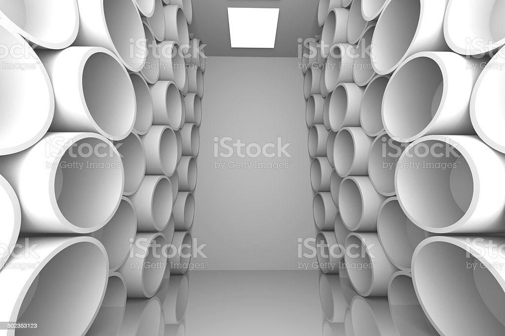 abstract sphere white room shelves royalty-free stock photo