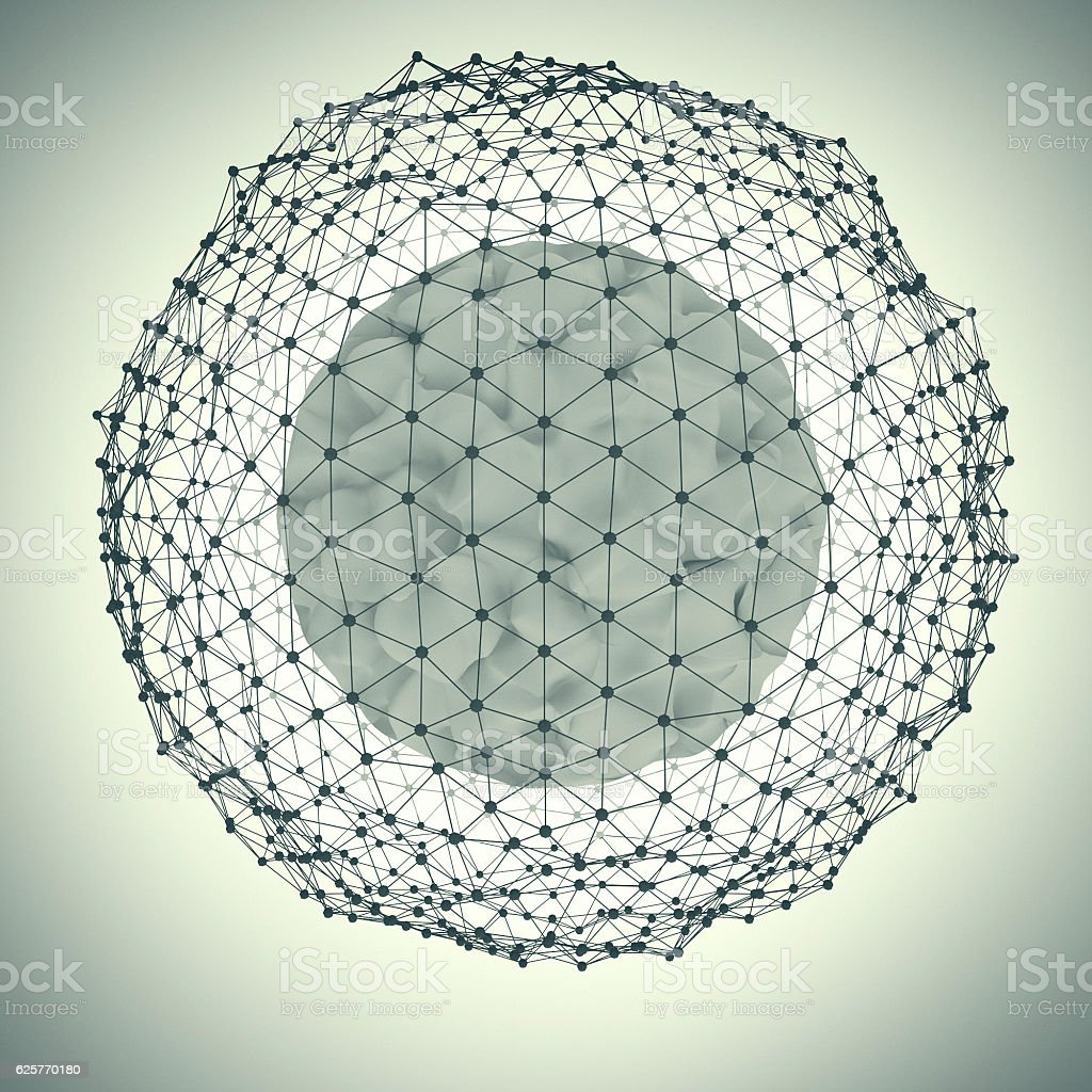 abstract sphere with dots – Foto
