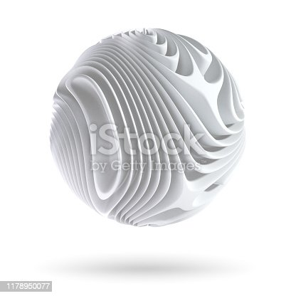 Abstract spherical form isolated on white background