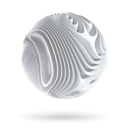 istock Abstract spherical form isolated on white background 1178950077