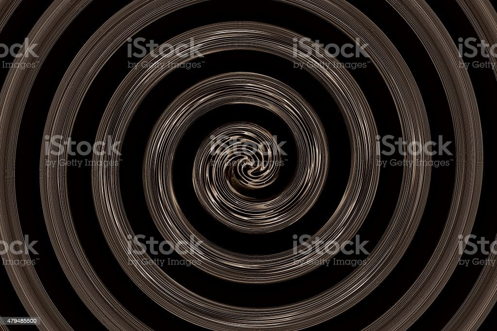 abstract spiral black and brown stock photo