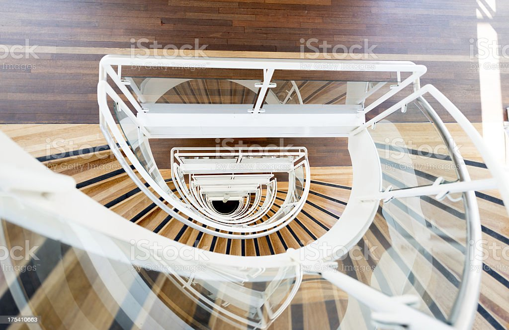 Abstract Spiral staircase. royalty-free stock photo